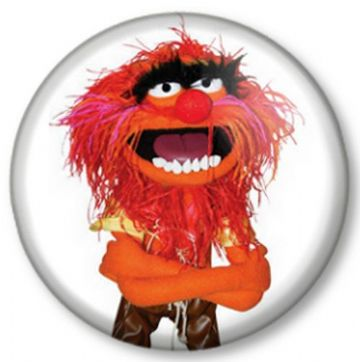 Animal - The Muppets Show Sesame Street Crazy Drummer Pinback Button Badge